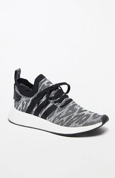 adidas NMD_R2 Primeknit Shadow Knit Black & White Shoes