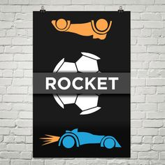 "Rocket League ""Rocket"" Poster"