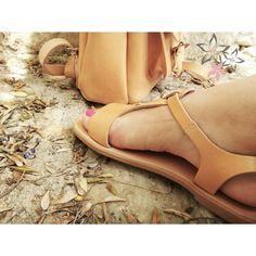 "Items similar to OFF Sandals ""Thetis"" /Ancient Greek Leather Sandals/Natural Color/T-bar Ankle Strap Sandals/Genuine Greek Leather Sandals/Woman Sandals on Etsy Ankle Straps, Ankle Strap Sandals, Leather Sandals, Natural Tan, Natural Beauty, Ss 15, Ancient Greek, Summer Girls, Boho"