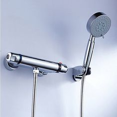 Brass Thermostatic Shower Tap With Handshower TT0213S  http://www.uktaps.co.uk/bathtub-taps-c-21.html
