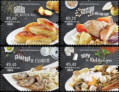 "Portugal Post has issued a special set of stamps on theme ""The Mediterranean Diet"". The Mediterranean Diet is a food concept that, within the history chronology, is as much timeless as it is accurate. Its classification as ""Intangible Cultural Heritage of Humanity"" by UNESCO confirms not only the existence of a specific food regime, but also a historic trace born within the Mediterranean. The issue consisting of four items was released and put into circulation on the 20th of July."