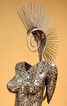 Welded sculptures made from recycled materials by Brian Mock