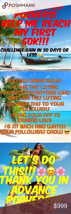 LET'S GROW & PROSPER TOGETHER!!!👯♂️👯👯👯👯👯👯 PLEASE HELP ME REACH 50K FOLLOWERS.THANK YOU! Bags