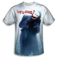 Batman Begins Movie Why So Serious Picture Sublimation Front Only T-shirt Top Official Licensed Batman DC Comics Sublimated Front Print Batman Begins Movie, Batman Gifts, Batman The Dark Knight, Batman Dark, Batman T Shirt, Branded T Shirts, Kids Fashion, Men's Fashion, Mens Tops