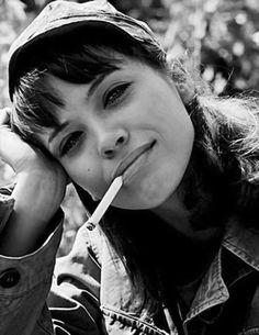 """Anna Karina in Hyères, France on location for """"Pierrot le Fou"""" by Jean-Luc Godard on June 1965 Smoking Is Bad, People Smoking, Women Smoking, Girl Smoking, Anna Karina, Charlotte Rampling, Alexa Chung, Twiggy, French New Wave"""