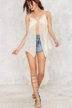 1db25f0e0aa8a3 Nasty Gal Catch My Drift Maxi Top - Clothes