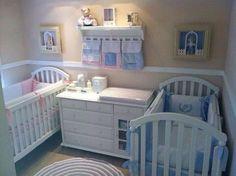 unique nursery room ideas for baby bedroom Small Twin Nursery, Twin Baby Rooms, Twin Baby Girls, Baby Crib Bedding Sets, Nursery Twins, Baby Nursery Decor, Baby Bedroom, Twin Babies, Baby Cribs