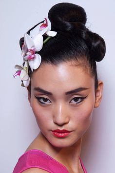 hair & makeup at Issa LFW