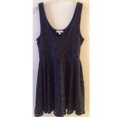 Floral navy blue dress from Cotton On Size small but can fit a medium as well | length: mid-knees | can be worn as a casual dress or formal (-: | like new Cotton On Dresses