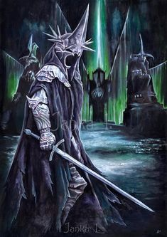 - watercolour painting Other LOTR villains -