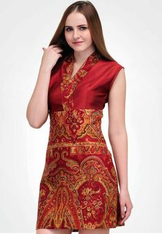 Jamawar Short Dress