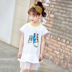 Vinjeely Toddler Girls Draped Solid Bowknot Dress Slim Clothes Long Sleeve Party Casaul Outfits