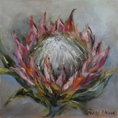 For the ultimate experience in art Acrylic Painting Flowers, Acrylic Art, Gouache Painting, Watercolour Paintings, Art Paintings, Watercolor, Anime Comics, Protea Art, Protea Flower