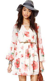 Vestido plisado floral cuello pico-blanco