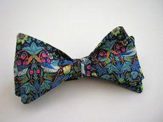 Custom Mens Yellow Floral Bow Tie Pre-tied Adjustable Handmade Wedding Prom Gift