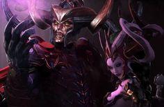 Malekith Starts with Morathi in Mortal Empires (Mod) Warhammer Dark Elves, Warhammer Art, Warhammer Fantasy, Fantasy Races, Dark Elf, Image Types, Beautiful Couple, Game Character, Dark Side