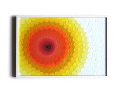 Paper sculpture Spirale confettis yellow & orange by maudvantours, €417.00