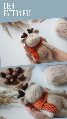 This listing is an original pattern (written in English using American terminology) to crochet your own cute stuffed Little Deer.  The 18 page deer pattern includes detailed instructions with step by step photos of how to crochet and assemble the toy.   Skill level: Easy Skill required: to have knowledge of basic crocheting techniques and making the magic ring. Crochet Animal Patterns, Crochet Doll Pattern, Amigurumi Patterns, Doll Patterns, Crochet Ideas, Tutorial Amigurumi, Doll Tutorial, Deer Pattern, Magic Ring