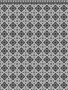 Knitted Mittens Pattern, Fair Isle Knitting Patterns, Knitting Charts, Weaving Patterns, Quilt Patterns Free, Knitting Designs, Knitting Stitches, Cross Stitch Borders, Cross Stitch Charts
