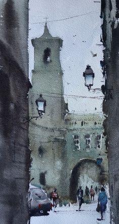 Watercolors Carles Pellejero: BARCELONA