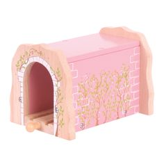 This gorgeous Pink Brick Tunnel would make the perfect addition to any existing wooden railway sets. Youngsters will love pushing their trains and locomotives through the tunnel, watching them chug out of the other end. This highly decorative tunnel will add depth and play value to any wooden railway. Suitable for children aged 3 years+. AVAILABLE APRIL: http://shop.bigjigstoys.co.uk/p/pink-brick-tunnel/new-toys-for-2014?pp=20
