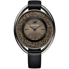 Swarovski Crystalline Oval Zwitsers horloge met losse kristallen in de wijzerplaat