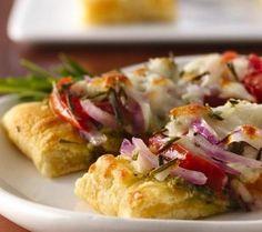 Mozzarella and Pesto Crescent Tarts