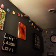 My own garland and some of my crayon melts