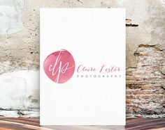 Watercolor Logo - Premade Logo Design - Photography Logo