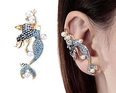 CIShop Diamond Sweet Mermaid Fairy Earcuff Earrings Punk Syle Ear WrapRight Ear ** Want additional info? Click on the image.