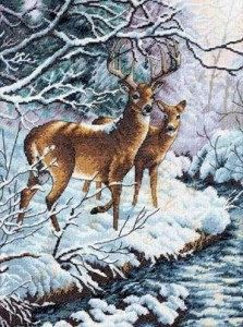Counted Cross Stitch Pattern PDF, Woodland Deer