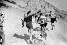 Tour de France 1958. 15-07-1958, 20^Tappa. Gap - Briançon. Col d'Izoard. Charly Gaul (1932-2005)