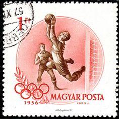 Hungary.  SOCCER. 16th OLYMPIC GAMES, MELBOURNE, NOV 22 - DEC 8, 1956.  Scott 1164 A260, Issued 1956 Sept 25. Wmk 106, Perf. 11, 1. /ldb.