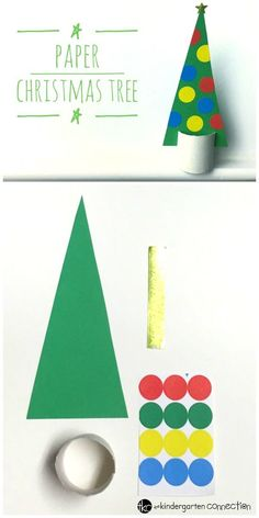 Encourage family time and create this paper Christmas tree! It's a great Christmas craft for kids that encourages fine motor skills.