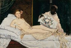 Olympia, 1863  Édouard Manet (French, 1832–1883)  Oil on canvas; 130 x 190 cm  Musée d'Orsay, Paris
