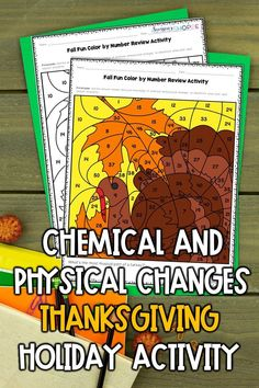 This chemical and physical changes activity is perfect for celebrating Thanksgiving in your upper elementary or middle school science classroom! Your 5th, 6th, and 7th grade students will love creating and coloring a Thanksgiving inspired image by answering 52 questions about how matter changes. This Thanksgiving coloring activity is editable, so you can write your own questions and tailor it to your own teaching.