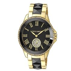 Vince Camuto black and gold diamond watch Gorgeous watch ! Sleek and simple, but still makes a statement. Never worn. Perfect condition. Vince Camuto Jewelry