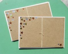 Metallic Foil-Pressed Star Cards