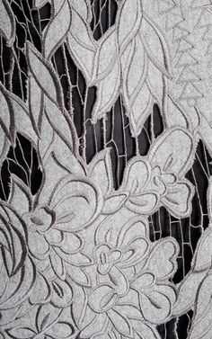 Grey Intarsia Lace Dress by Aquilano.Rimondi for Preorder on Moda Operandi