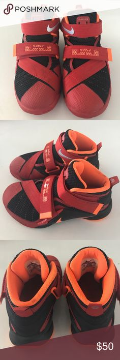 6baa7ac8117 Lebron James soldier color   chilling red total orange size Sold by  sydaniels.