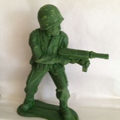Army man dog toy from olive green dog.
