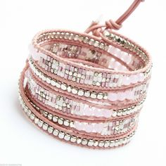 Wrap Bracelet Tresse Nakamol 5 Tours Rose Dore   eBay