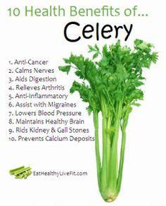 10 Health Benefits of Celery.