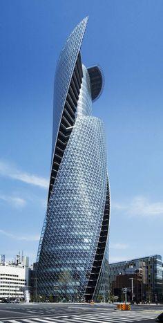 Mode-Gakuen Spiral Towers in Nagoya City, Japan