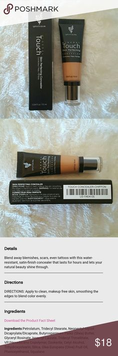 Chiffon  - Touch mineral skin perfecting concealer New never used Younique - Blend away blemishes, scars, even tattoos with this water-resistant, satin-finish concealer that lasts for hours and lets your natural beauty shine through. Younique Makeup Concealer