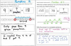 addition and subtraction word problem frames