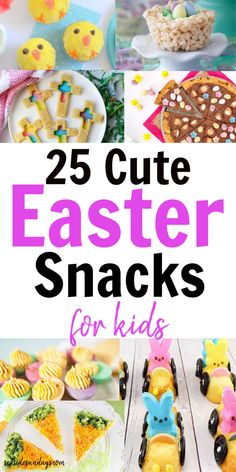 Sweet Easter snacks for preschoolers! Tons of sweet Easter ideas for ., Sweet Easter snacks for preschoolers! Tons of sweet Easter ideas for school parties, Sunday school Easter events and family celebrations. Cute Easter Desserts, Easter Snacks, Easter Candy, Easter Food, Easter Dinner, Cute Easter Treats For Kids, Easter Ideas For Kids, Easy Easter Recipes, Easter Stuff