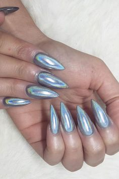 Holographic nails are the trendiest manicure