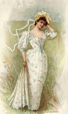 Little Birdie Blessings: Free graphic Victorian Woman