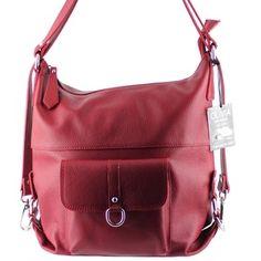 Sac à main, Sac à dos en cuir de vachette N1266 Rouge/Bordeaux Achat/cadeau utile, Vente Sac